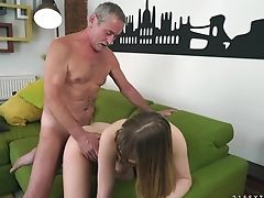 Teenage Needs Nothing But Her Stud's Hard Boner In Her Mouth To Get Orgasm