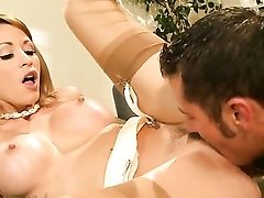 Danny Mountain Admires Saucy Monique Alexander's Figure Before She Takes His Love Stick In Her Vulva