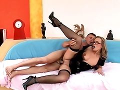 Milf Cop Spreads Her Legs For Anal