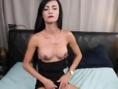 """""""classy Asian Tgirl With Round Tits Wanks Solo"""""""