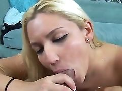 Endearing Blonde Dolly Loves Slurping On Johnny Fender's Big Hard Boner And Wanking Him Off With Her Tits