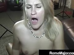 Big Black Trunk Rome Major Wrecks Blonde Cougar Valerie Rose!
