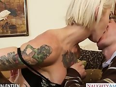 Blonde With Tattoos Kleio Valentien Is Fucked In Mouth And Fuckbox
