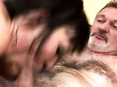 Slender Asian Selina Gets Banged By Grand-pa