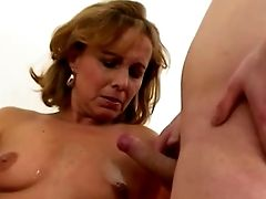 Pretty Hot Mom With Youthful Boy