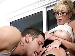 Hot Granny Tempts Student