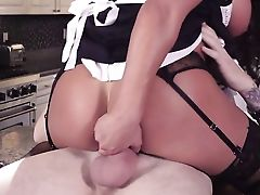 Dark Haired August Taylor With Sweet Baps Pleases Her Anal Invasion Needs