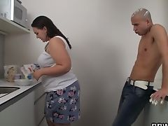 Fucky-fucky With Big Booty Plus-size On The Kitchen