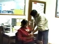 Matures Indian Dark-haired In Office Deepthroats Meatpipe And Gets Fucked By Co Employee