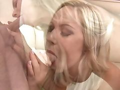Blonde With Edible Melons Turns Dude On To Make Him Finish Off