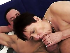 Dark Haired With Tasty Mammories Is Good On Her Way To Make Hot Dude Finish Off On Oral Activity