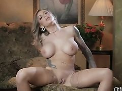 Karma Rx Plays With Her Big Tits And Appetizing Cunny In A Getting Off Taunt