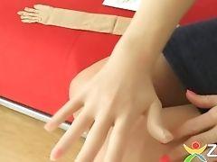 Seamless Nylon Gloves For Intercourse Games