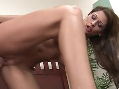 Black-haired Alison Starlet With Giant Knockers Is Too Horny To Stop Fucking