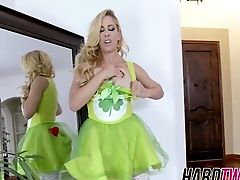 Blonde Bombshell Cherie Deville Deepthroats And Rails A Beef Whistle