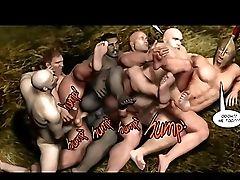 Muscular Hentai Gay Hunks Group Gangbanged