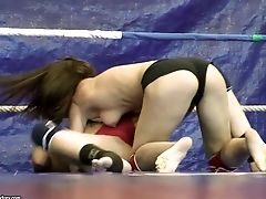 Sophie Lynx And Mira Shine Grapple Wearing Lil' Cut-offs