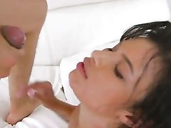 Tattooed Bruno Dickenz With Phat Butt And Clean Twat Does Dirty Things And Then Gets Her Pretty Face Jizz Doused