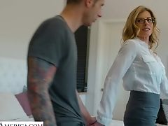 Hump-starved Mommy Cory Chase Shows Her Boobies And Gives A Blowage