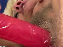 Matures Grinds Lucky Dudes Erect Implement With Her Lips