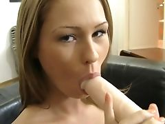 Dark-haired Antonya With Big Knockers Is On The Way To Orgasm With Fake Penis In Her Vagina