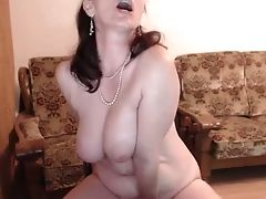 Big Boobed Woman Playing Her Vagina Intensively