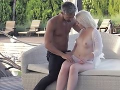 Blonde And Her Horny Bang Acquaintance Both Love Fellatio Session