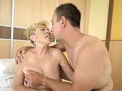 Blonde Sweetie Has Superb Sexual Practice And Widens It With Horny Dude