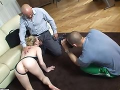 Fucking Lily Labeau's Feet And Cunt Behind The Scenes